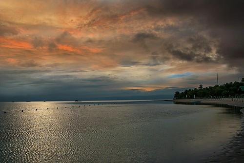 travel light sunset water golden cloudy philippines panglao virginisland centralvisayas