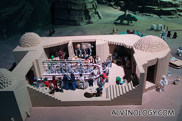 The famous bar scene where Han Solo was introduced