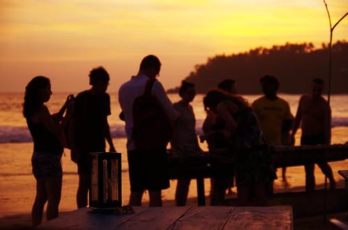 ocean trip light sunset sea vacation people beach evening twilight dusk january silhouettes illumination sri lanka srilanka ceylon mirissa mirissabeach