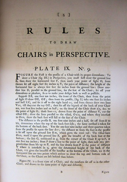 chippendale chairs in perspective text