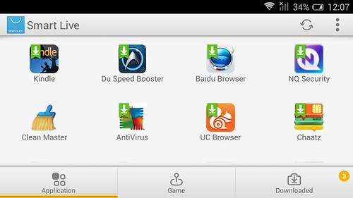 Smart Live บน Alcatel Onetouch Flash
