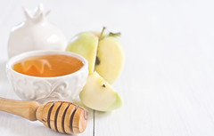 Apple and honey background