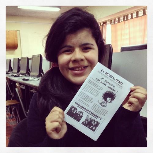 Felicitaciones a Antonia Ossandon, autora de la noticia que fue portada de El Murialdino. #Valparaíso #Chile