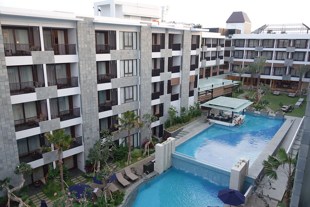 Main Pool (by day) at Courtyard by Marriott Bali Seminyak - Aug 2014