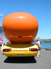 Oscar Mayer #weinermobile <rearview> @ the Tall Ships® L.A. Festival in San Pedro, CA.