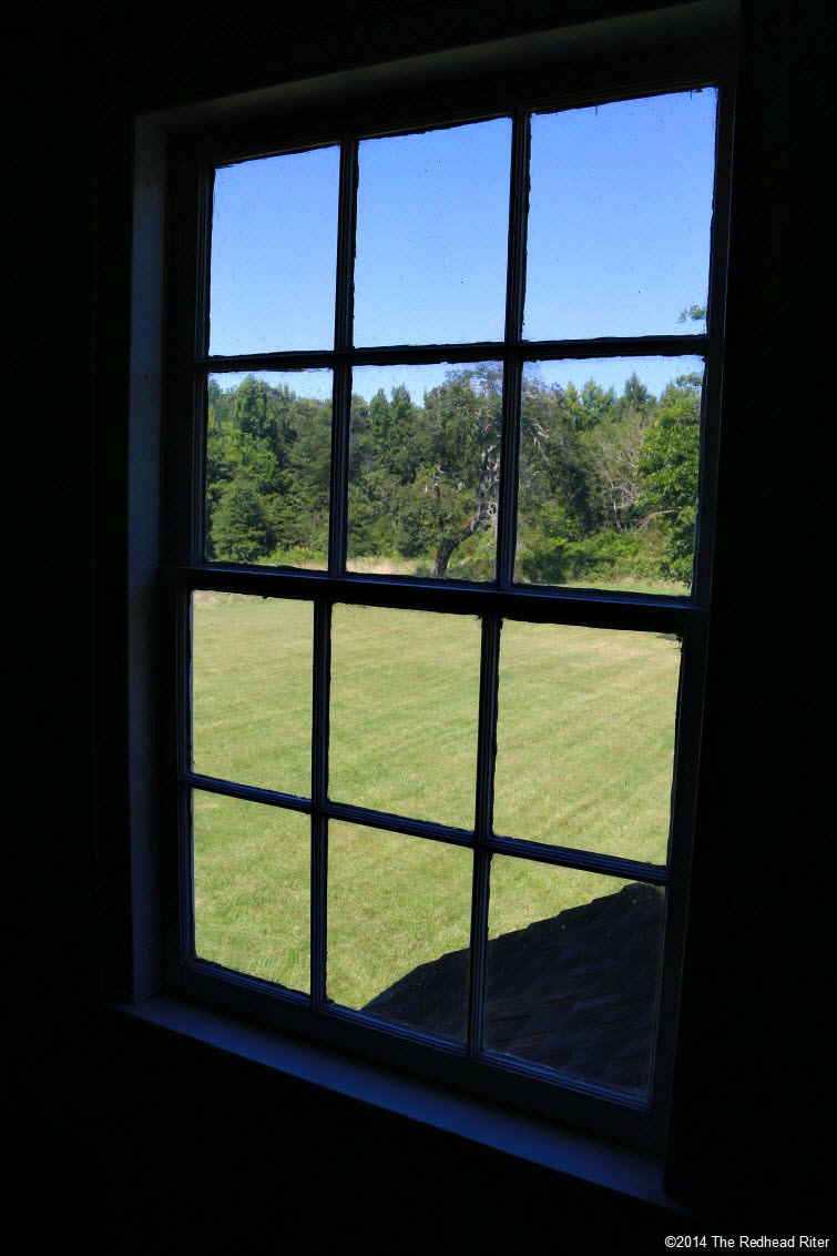 view from upstairs of plantation office - Stonewall Jackson Died In Guinea, Virginia