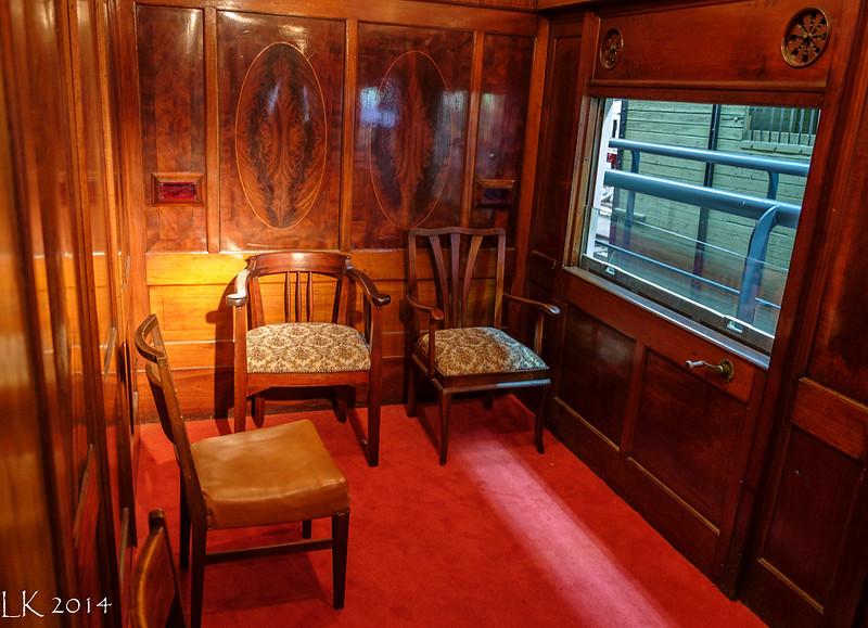 Saloon coach No. 98. Israel Railway Museum, Haifa