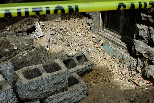 porch foundation, tim hortons litter