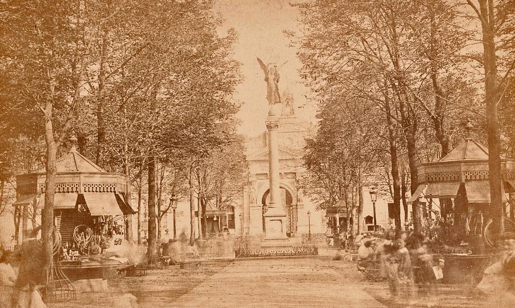 Paris ancien vers 1855.
