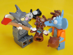 itchy and scratchy lego