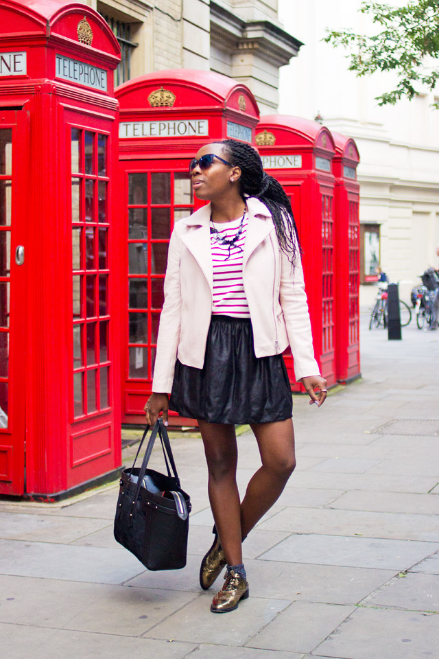 pink with red stripes