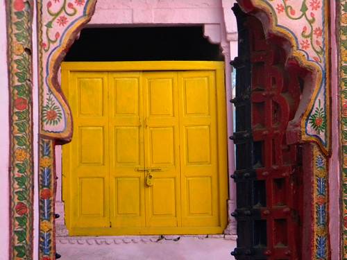 A Yellow Window in Bundi, India
