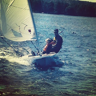 Out #sailing with boy #1. Great day. #startthemyoung #kidsofinstagram