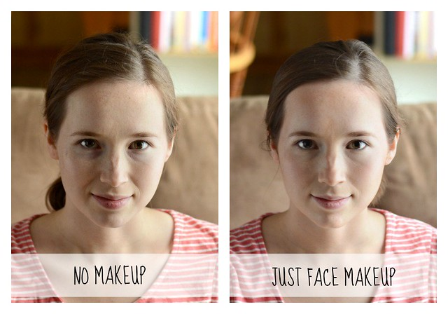 No Makeup VS Face Makeup