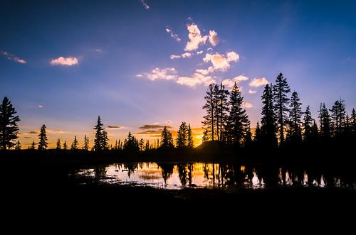 camping trees sunset mountain water pine utah pond nikon hiking bald backpacking d7000 pwpartlycloudy