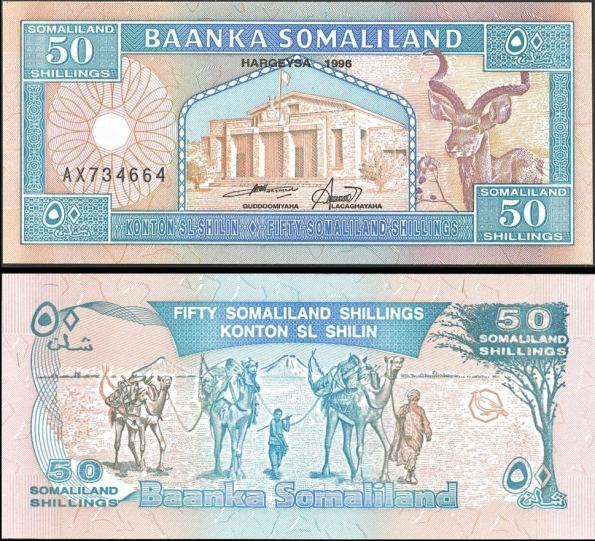 50 Šilingov Somaliland 1996, Pick 7a