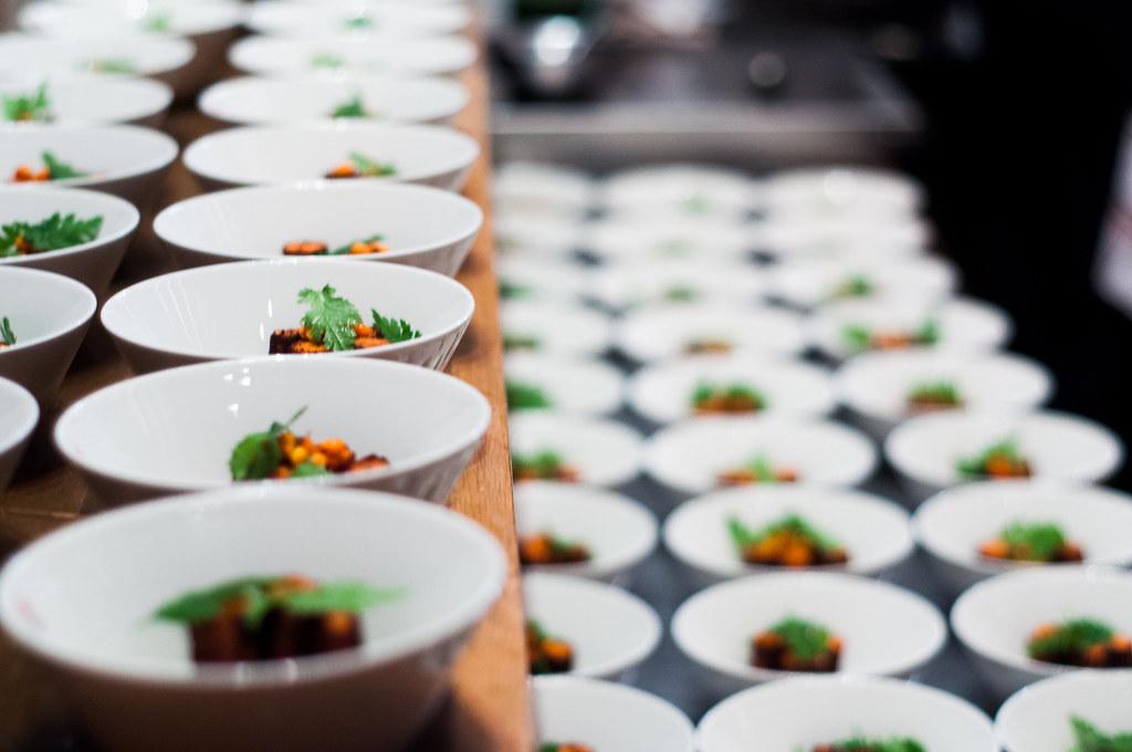 Dessert plates set up