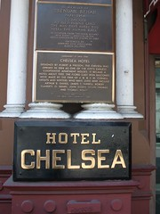 Photo of Brendan Behan and Hotel Chelsea gold plaque