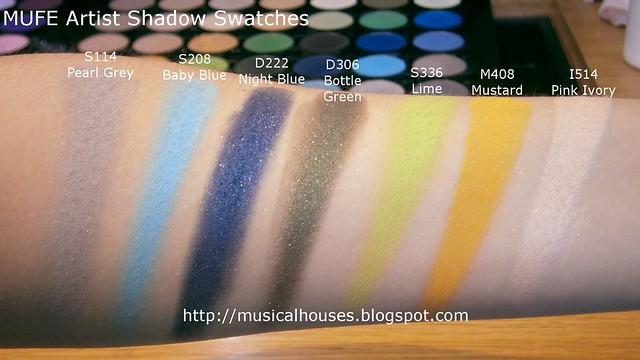 MUFE Artist Shadow Eyeshadow Swatches 1 Row 4