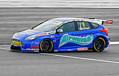 BTCC Silverstone-Airwaves Racing Ford Focus St driven by Mat Jackson.