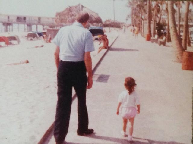 Papa and me.