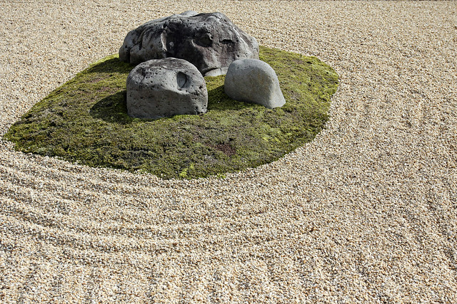detail of one of the many zen rock gardens