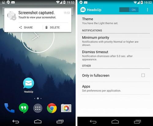 HeadsUp для Android