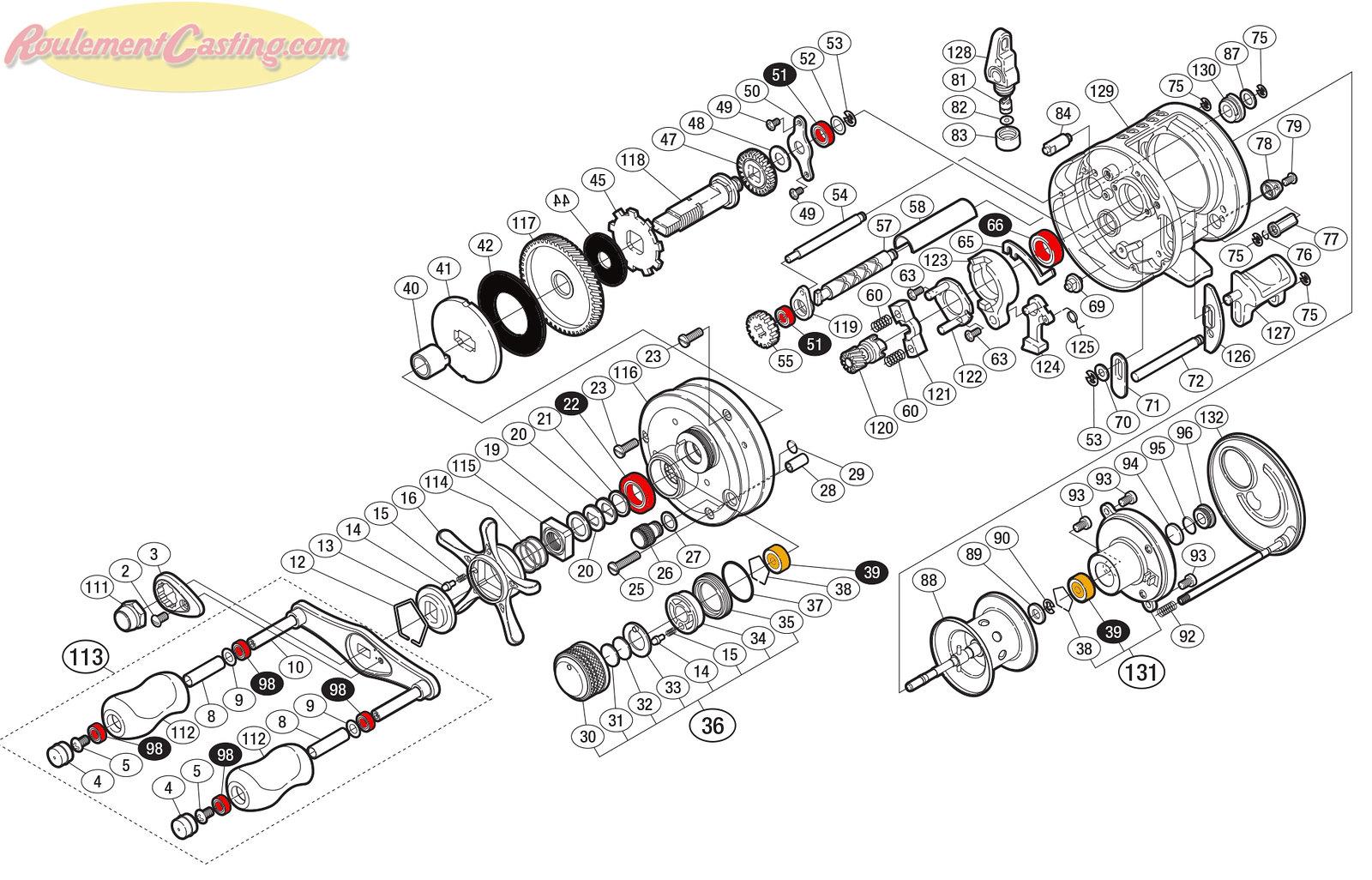Schéma Shimano Conquest 10' 101DC