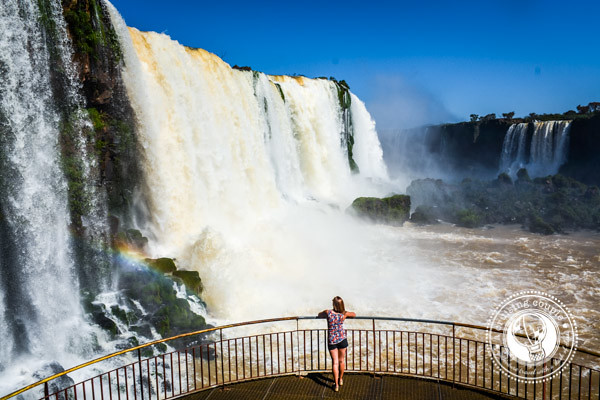 A Cruising Couple Iguazu Falls Brazil