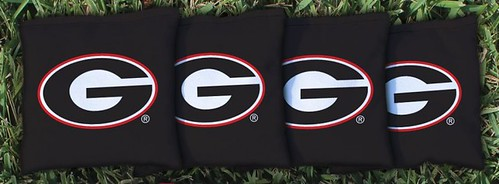 GEORGIA BULLDOGS BLACK CORNHOLE BAGS