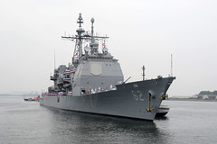 USS Chancellorsville (CG 62) arrives in Yokosuka, Japan, in June to join the U.S. 7th Fleet's Forward Deployed Naval Forces. (U.S. Navy/MC2 Peter Burghart)