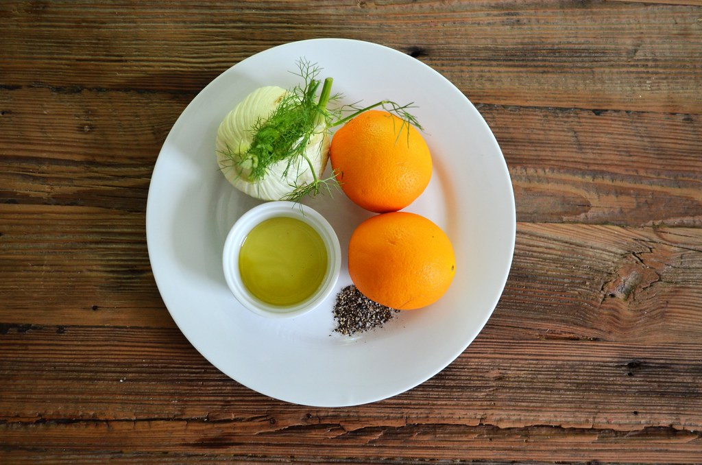 Orange and Fennel Salad Ingredients