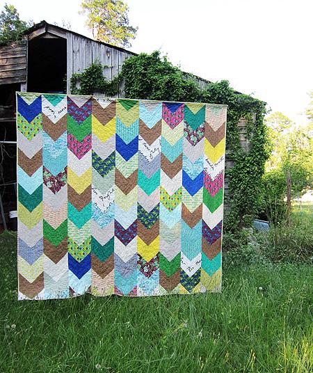 Pretty Potent chevron quilt