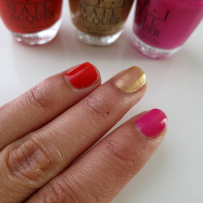 OPI-ford-mustang-swatches, nail polish,