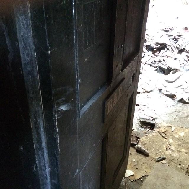 Entry door to bar