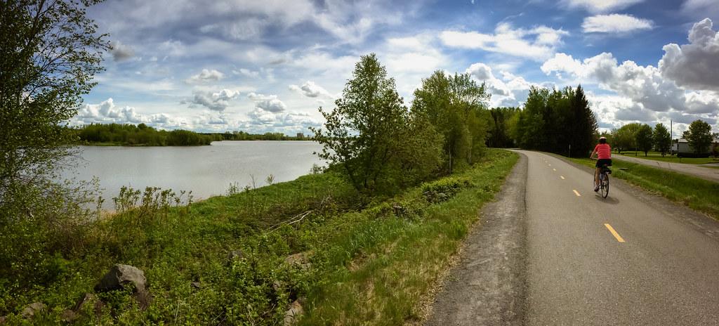 Sentier de marche, de patin et de vélo autour du réservoir Beaudet de Victoriaville
