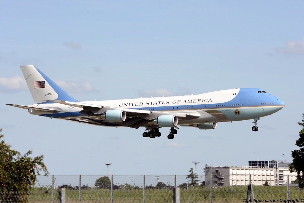 ( Boeing 747-200B) United States Of America (Paris Orly) AIR FORCE ONE 14338194746_8e8f09c16d_b