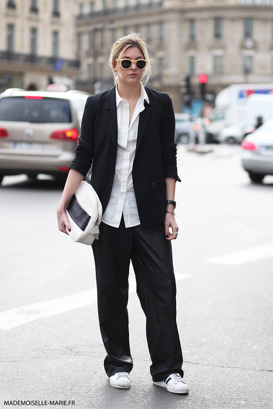 Camille Charriere at Paris fashion week