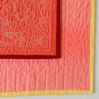 Backs of two quilts