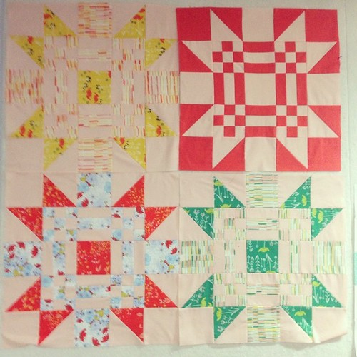These are the ones I made in class today. This quilt is going to be so soft & subtly warm. #redletteraustralia