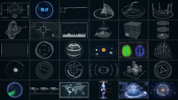 CyberTech HUD Infographic Pack by Stefoto | VideoHive