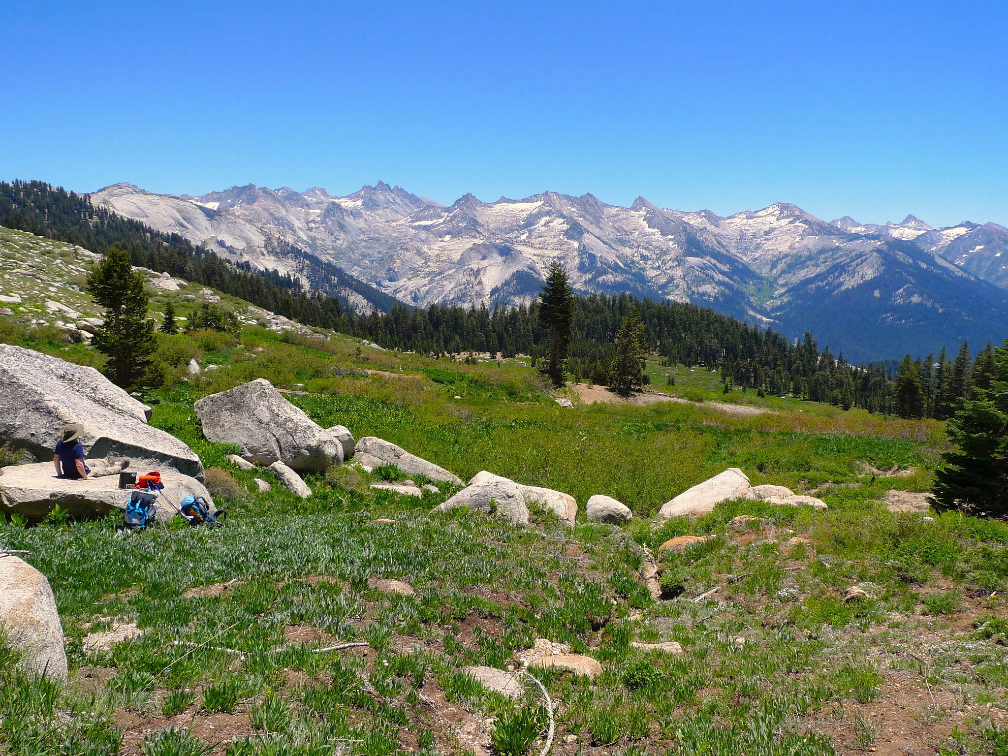 Lunch break at Alta Meadow