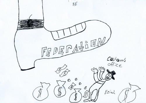 Federation political cartoon