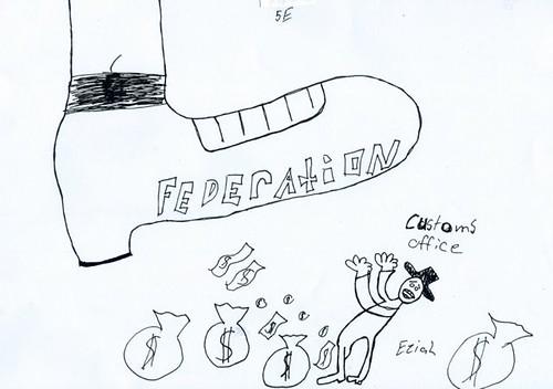 Federation political cartoon