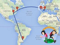 Ruta viaje por el mundo