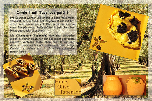 Olive Olivenöl Rezept Ölbaum Ölbäume Provence Kräuter Knoblauch Omelette Tapenade Spezialität Brigitte Stolle