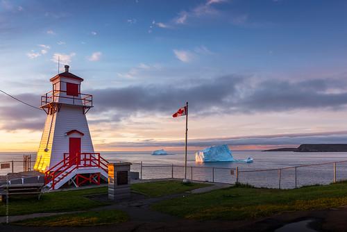 ocean morning sea summer cloud lighthouse canada ice sunrise newfoundland spring nikon flag blackhead iceberg nfld atlanticcanada fortamherst capespear fench d600 newfoundlandandlabrador nikond600 stjohn's