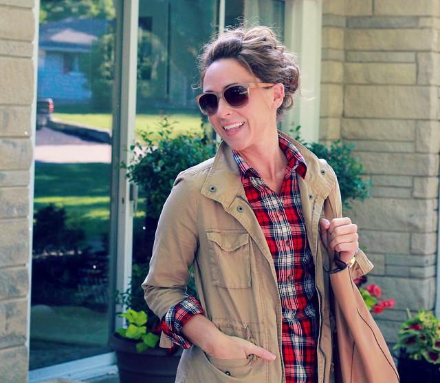 how to wear a denim midi skirt via Kristina J blog