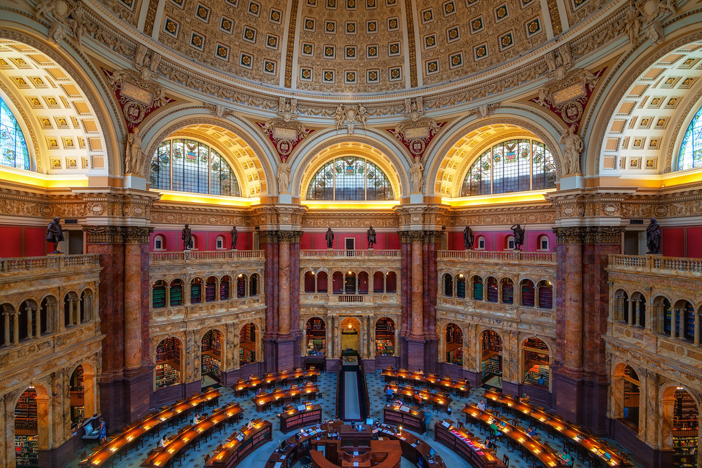 The Library of Congress (reading room)