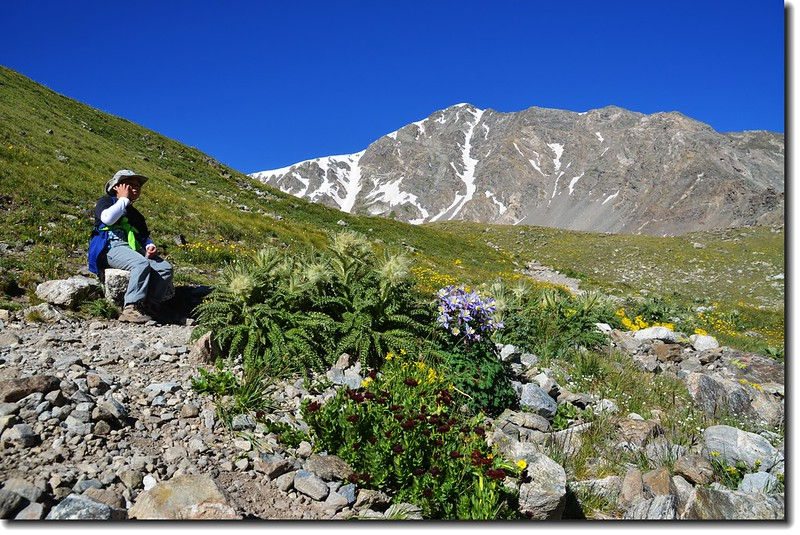 Jacob is taking a break at the Grays Peak trail 1
